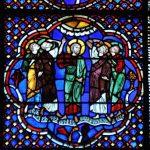Ascension du Christ - Vitrail XIII siècle Cathédrale Saint Jean-Baptiste de Lyon